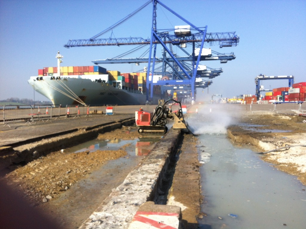 Rail Track hydrodemolition hydroblast