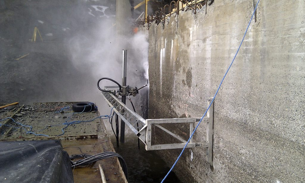 industrial water jetting demolition aqua spine machine