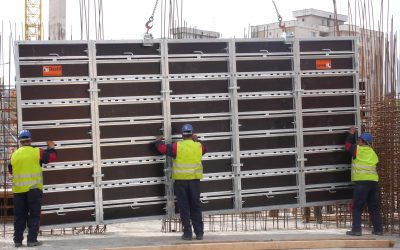 Formwork Cleaning with High Pressure Water Jets