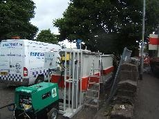 Hydroblast performing waste water treatment