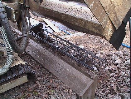 break up the concrete