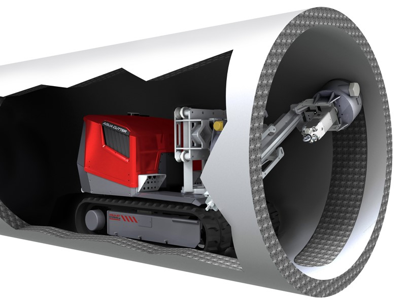 Diagram showing our Robotic Hydrodemolition Robot