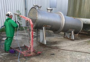 water jet pipe cleaning - using the peinemann
