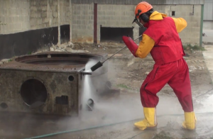 hydrodemolition reaction force