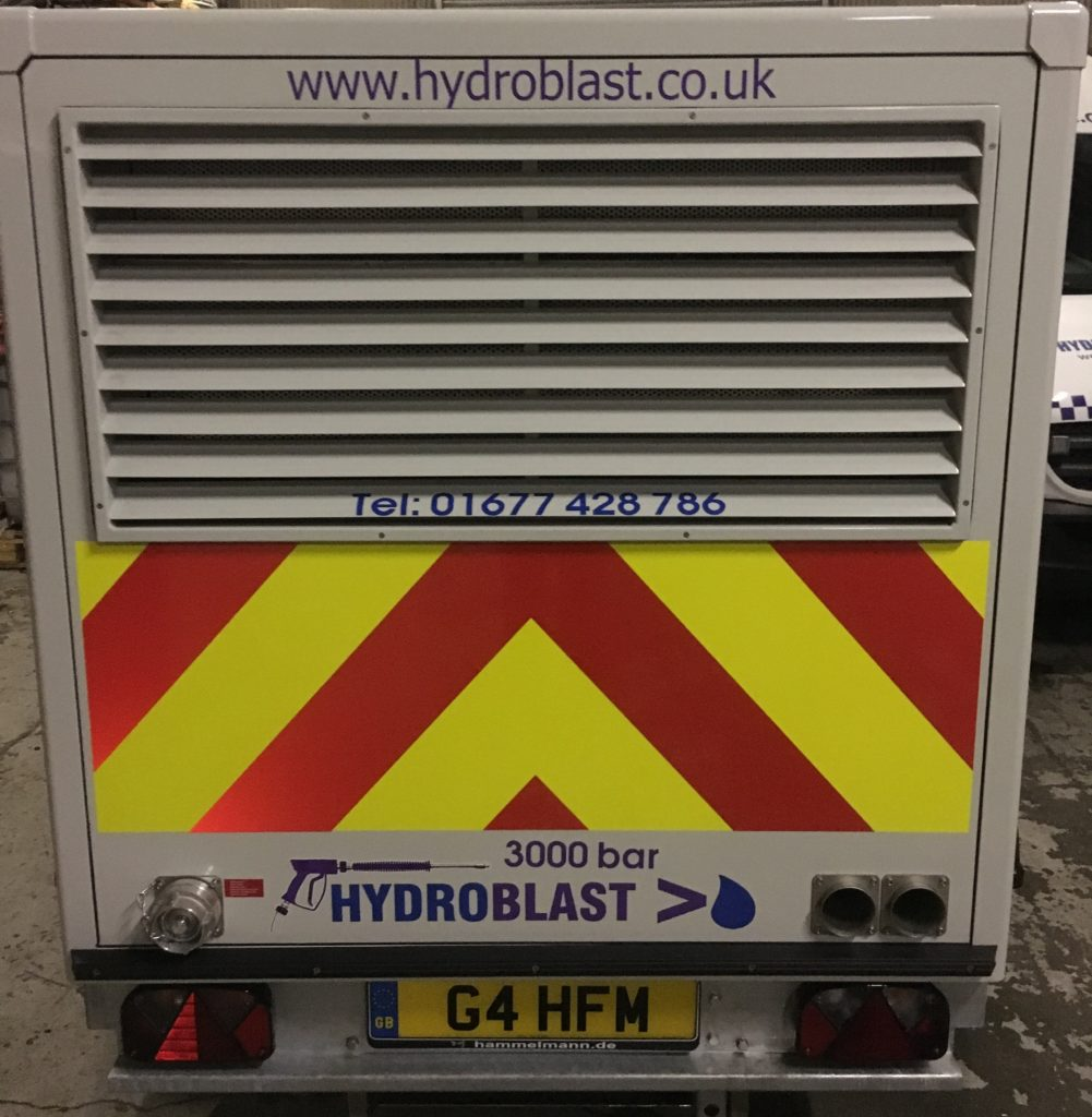 hydroblasts new ultra high pressure water jetting trailer