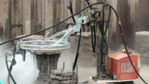 hydrodemolition with pile cropping