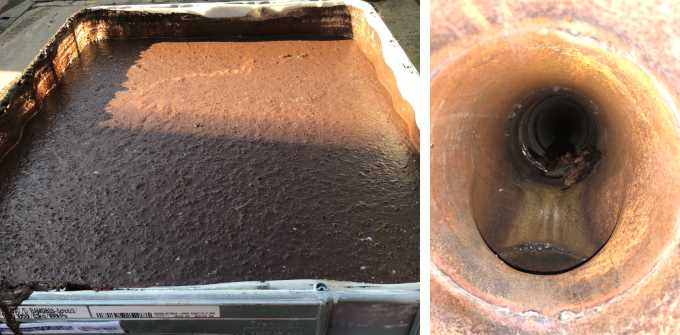 blockage removal from an industrial pipe