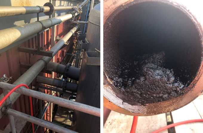 ultra high pressure pipe cleaning