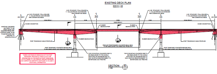 Existing deck plan