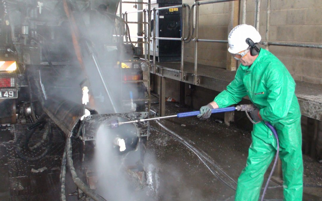 Hydroblast: Cleaning Up Concrete Mixers at Army Barracks