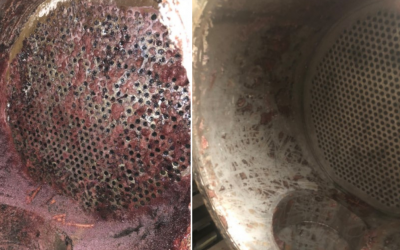 Ultra High pressure Jet cleaning of a Heat Exchanger