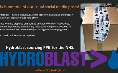 Hydroblast Sources PPE for NHS & Latest Update